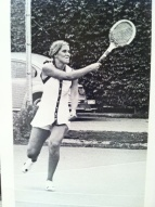 Kathy O'Leary, Drury College Tennis 1974.