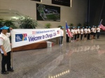 Team USA greeted by local staff at IBK.
