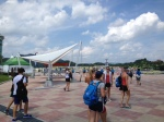 Team USA arrives at Tangeum Lake race course.