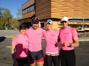 DCM4x Beat Cancer Boat Club (L-R: Michelle Nielsen, Mike Sivigny, Meghan O'Leary, Brian Tryon)