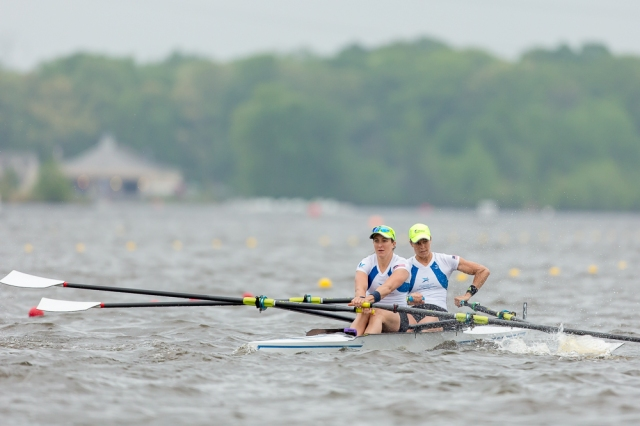 Fighting the horrendous conditions during the NSR II Friday semifinals. Photo credit: Erik Dresser