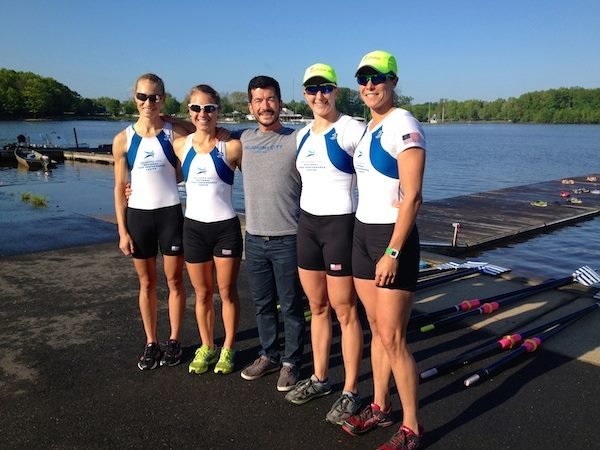 USRowing Training Center-OKC W2x and LW2x NSR II winners. (L-R Devery Karz, Michele Sechser, Jeremy Ivey, Ellen Tomek, Meghan O'Leary) Photo Credit: USRowing