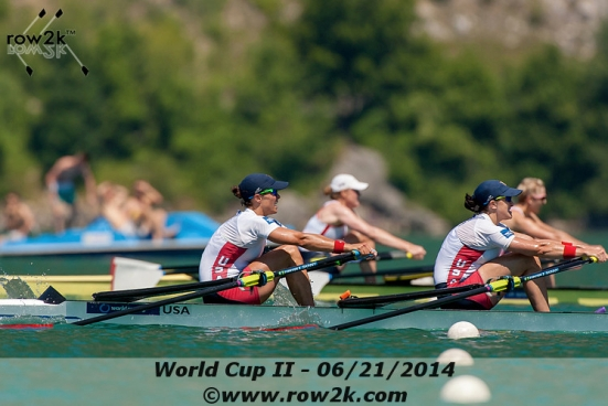 Final strokes of our semifinal at World Cup 2. (Photo courtesy of row2k.com, Erik Dresser)