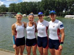 Lightweight and open weight women's doubles at the Holland Beker Regatta.
