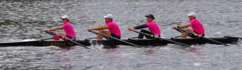 Beat Cancer Boat Club in the Directors' Challenge Mixed Quad.