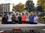 UVA Alumni 8+ lineup (L-R): Meghan O'Leary, Molly Baker, Chrissie Monaghan, Kelsie Chaudoin, Sidney Thorsten, Christine O'Brien, Keziah Beall, Libby McCann, Melanie Kok.