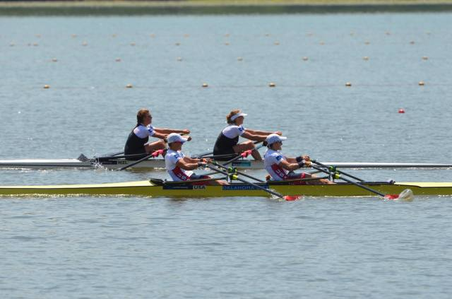 2015 WC2 A Final; last 250 meters sprinting it out with New Zealand. Photo courtesy of USRowing.